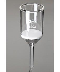 Embudo Buchner de vidrio 80 ml con placa filtrante