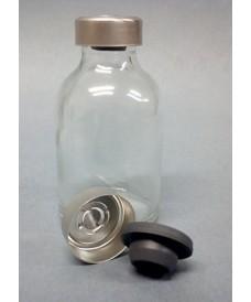 Flacon antibiotique verre blanc 20 ml avec capsule bouchon