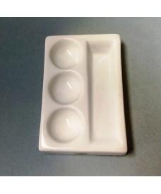 Placa de porcelana con 3 cavidades