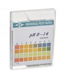 Caja 100 tiras papel pH 1-14