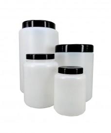 Pot poudrier 250 ml PP avec bouchon et obturateur