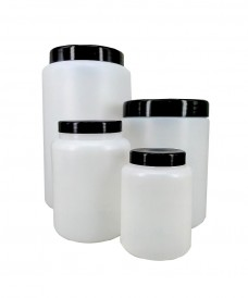 2000 mL Plastic Jar & Screw Cap & Obturator
