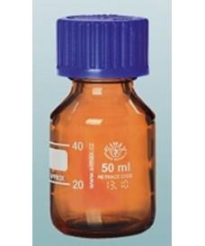 Frasco rosca 50 ml ISO GL-32 ámbar