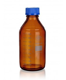 Frasco ámbar ISO GL-45 250 ml con tapa y anillo