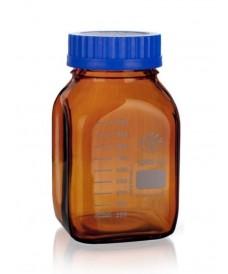 Flacon jaune carré 1000 ml ISO GL80