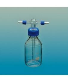 Flascó rentador de vidre rosca GL45 500 ml complet