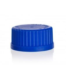 Bouchon à vis GL45 bleu