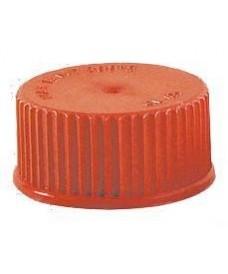 Bouchon à vis GL45 rouge avec disque PTFE