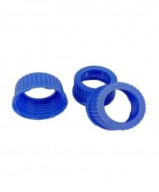 Bouchon à vis GL45 bleu avec orifice