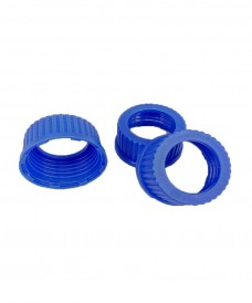 45 mm Blue Screw Cap with Hole for Septum