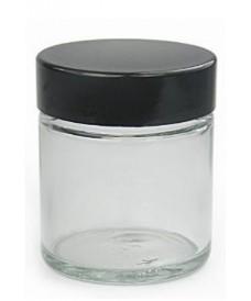 Pot blanc 120 ml avec couvercle à vis bakélite noire