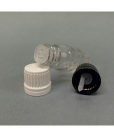 Flacon blanc 5 ml codigouttes DIN18