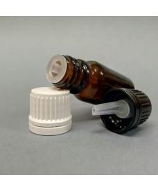 Frasco rosca 50 ml gotero obturador DIN18 ámbar