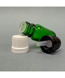 Flascó 50 ml degotador obturador rosca DIN18 verd