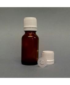 Flascó rosca 15ml degotador obturador DIN18 ambre