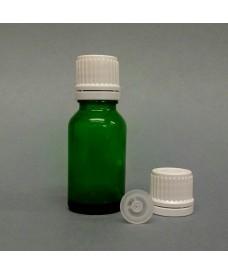 Flascó 15 ml degotador obturador rosca DIN18 verd