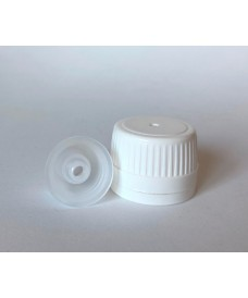 White cap & dropper insert cap with 4.1 mm hole for PP28 screw