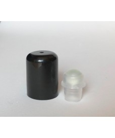 18 mm screw black cap & roll-on glass cap