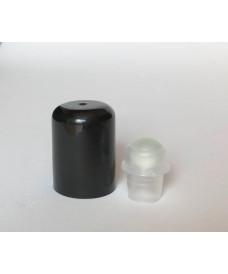 Tapa negra amb roll-on de vidre per a rosca 18 mm
