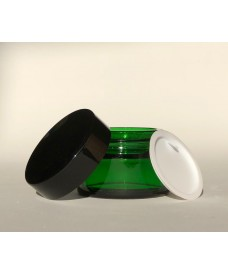 30 ml green glass jar & black screw cap