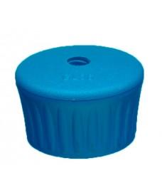 Pomo azul con orificio para desecador