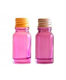 Flascó de vidre violeta i tapa d'alumini amb rosca 18mm, 10ml