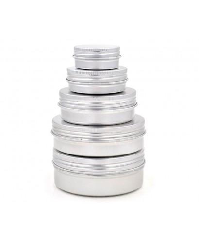 Bote con rosca de aluminio y tapa 15 ml