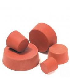 Tapón de goma compacta roja para laboratorio