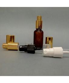 Flacon jaune 20 ml avec pompe spray à vis DIN18