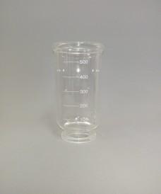 Embut de vidre graduat de 500 ml per a filtració amb membrana 47 mm