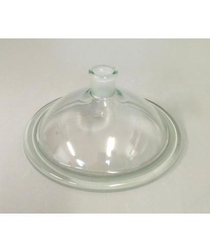Tapa de vidrio con salida esmerilada 24/29 para desecador 250 mm Simax