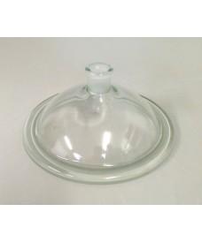 Tapa de vidrio con salida esmerilada 24/29 para desecador 150 mm Simax