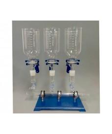 Rampas de filtración 3 plazas de vidrio completo para filtros de 47 mm, 1000 ml