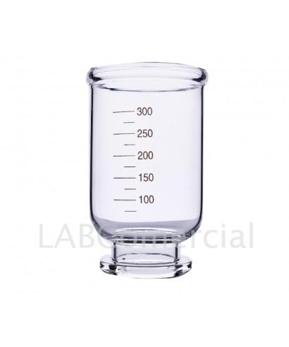 Embut de vidre graduat de 300 ml per a filtració amb membrana 47 mm