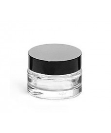 15 ml Clear Glass Jar & Black Bakelite Lid