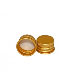 Tapa con rosca de aluminio de color dorado para botella con boca rosca 28mm