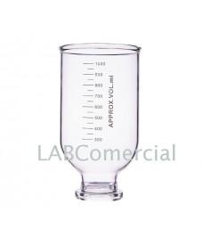 Embudo de vidrio graduado de 300 ml para filtración con membrana 47 mm