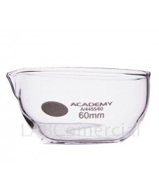 60 mm Evaporating Dish, Flat Bottom With Spout