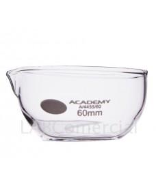 Cápsula vidrio fondo plano con pico 60 mm