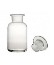 Frasco 50 ml ámbar boca ancha y tapón de vidrio