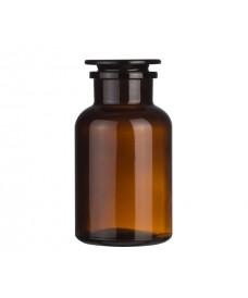 Flascó 1000 ml ambre boca ampla i tap de vidre