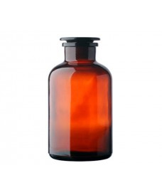 5000ml Amber Reagent Bottle, Wide Mouth & Ground-Stopper