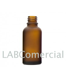 50 ml Amber Frosted Glass Bottle with Thread DIN18