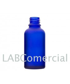 Frasco vidrio 100 ml azul glaseado rosca DIN18