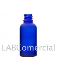 Frasco vidrio 15 ml azul glaseado rosca DIN18