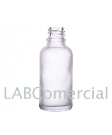 50 ml Clear Frosted Glass Bottle with Thread DIN18