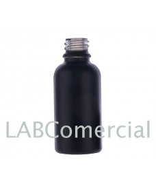 30 ml Black Frosted Glass Bottle with Thread DIN18