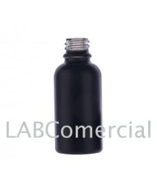 Flascó vidre 30 ml negre setinat a l'àcid rosca DIN18