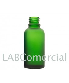 30 ml Green Frosted Glass Bottle with Thread DIN18