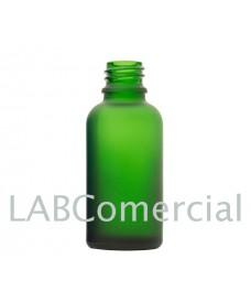 Flascó vidre 30 ml verd setinat a l'àcid rosca DIN18